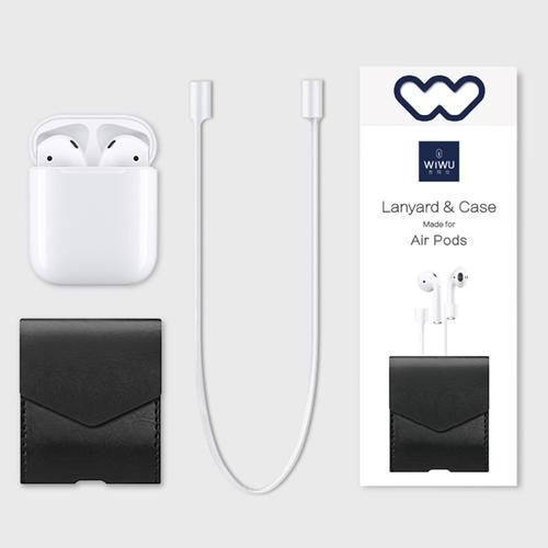 WiWU|Air Pods 防丟繩 & 皮套 | Lanyard & Case - 灰色防丟繩