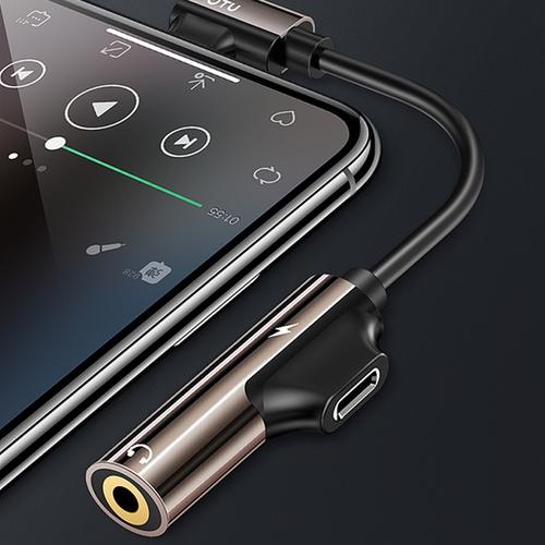 TOTU|流光系列EAUC-10 - iPhone彎頭音頻轉接器