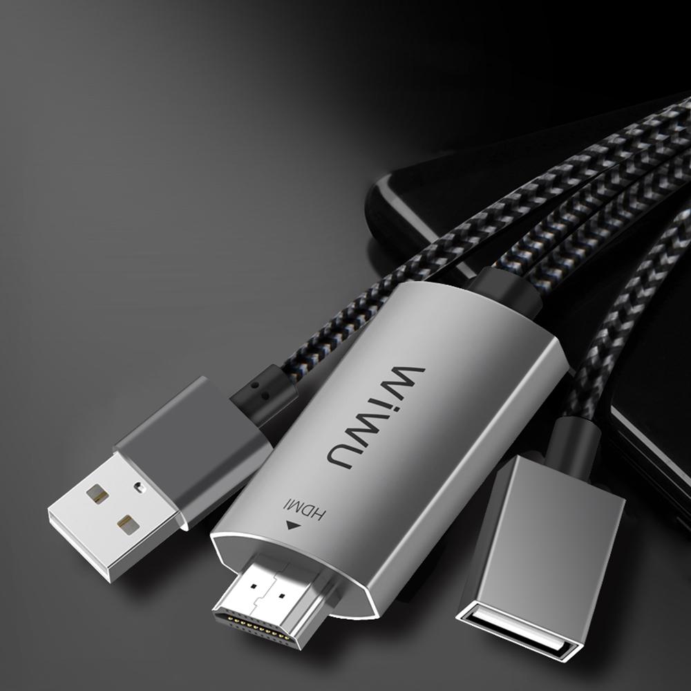 WiWU|Universal HDTV Adapter X8手機電視同屏線