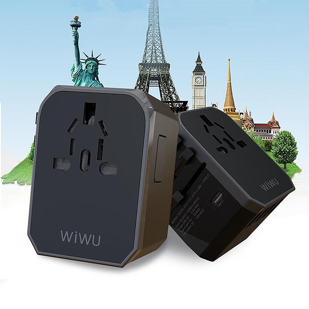 WiWU|UA-301全球通轉換插座PD快充旅行充電器