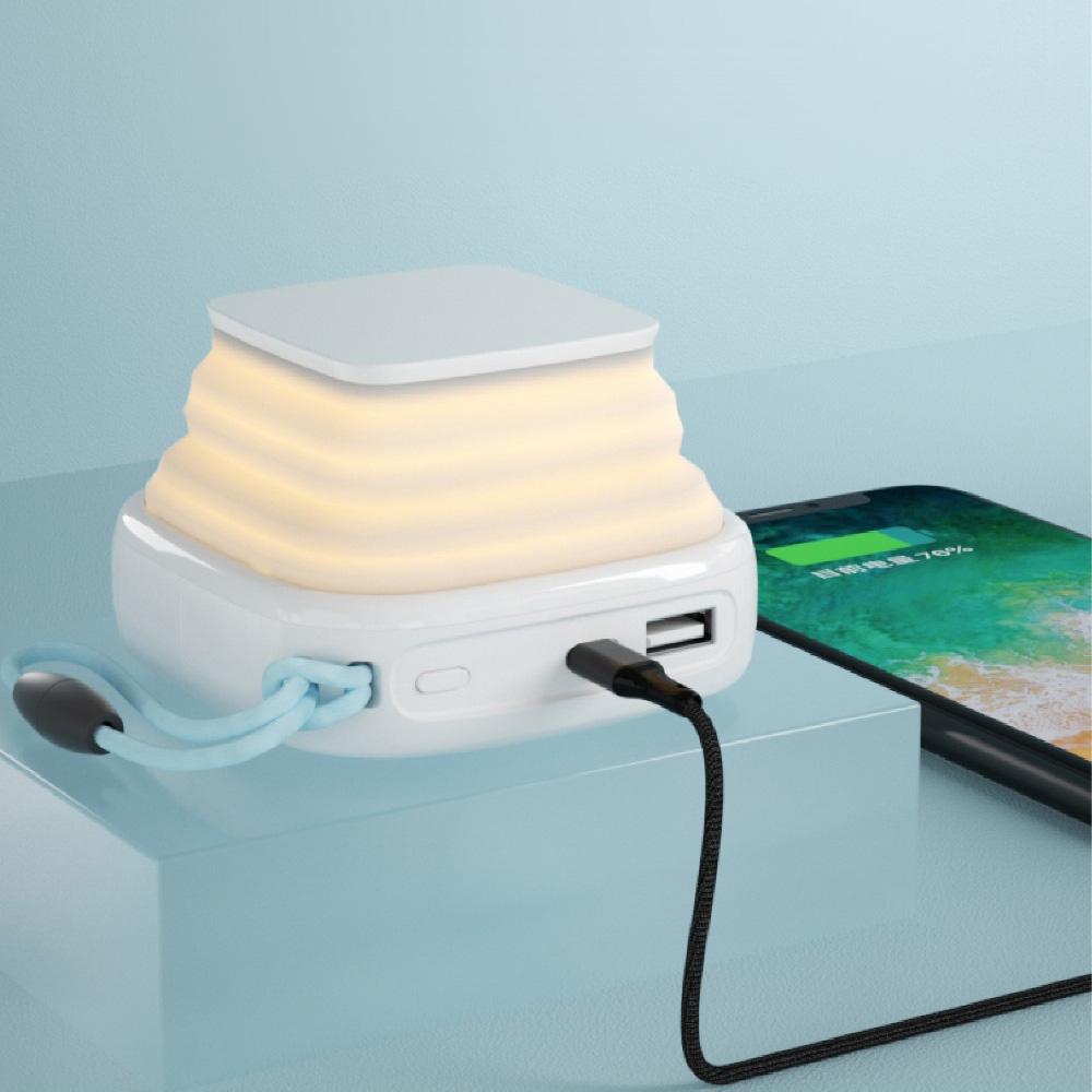 PopCandle | 小夜燈無線充電支架行動電源(PD快充10000mAh)(SPX02W-T)