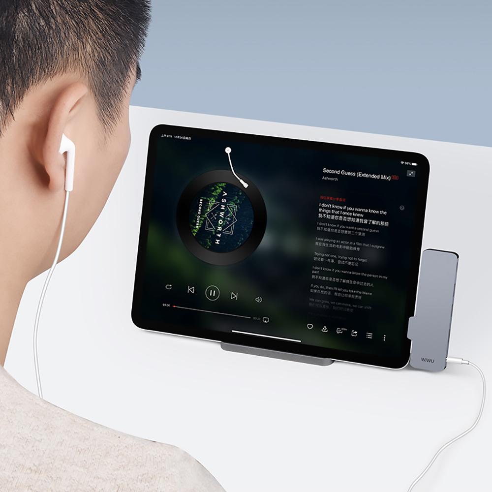 WiWU | iPad Pro Type-C 5合1擴充轉接器-T5