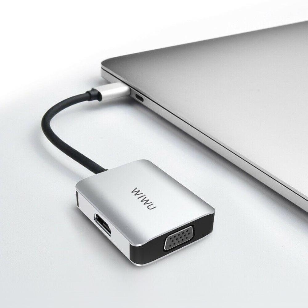 WiWU | Alpha Type-C to HDMI VGA 2合1擴充轉接器 A20VH