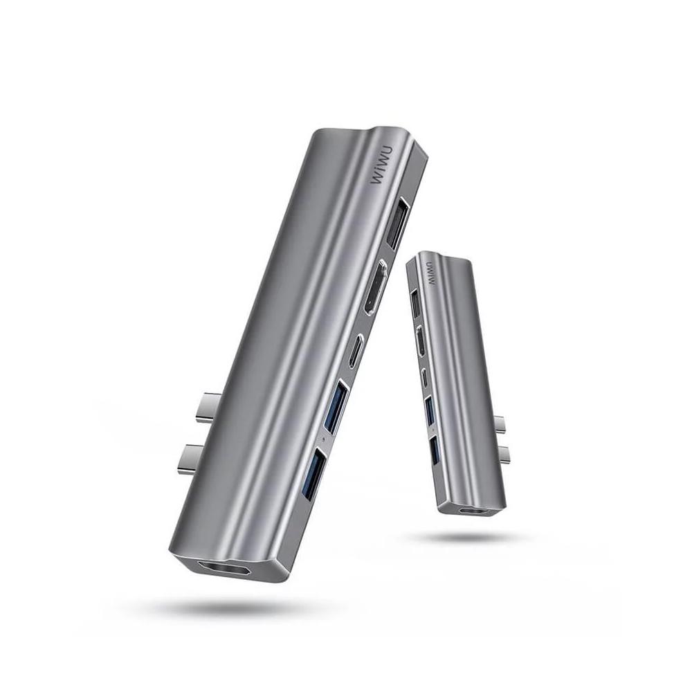 WiWU|Type-C Hub T系列8合1擴充轉接器T9-For MacBook
