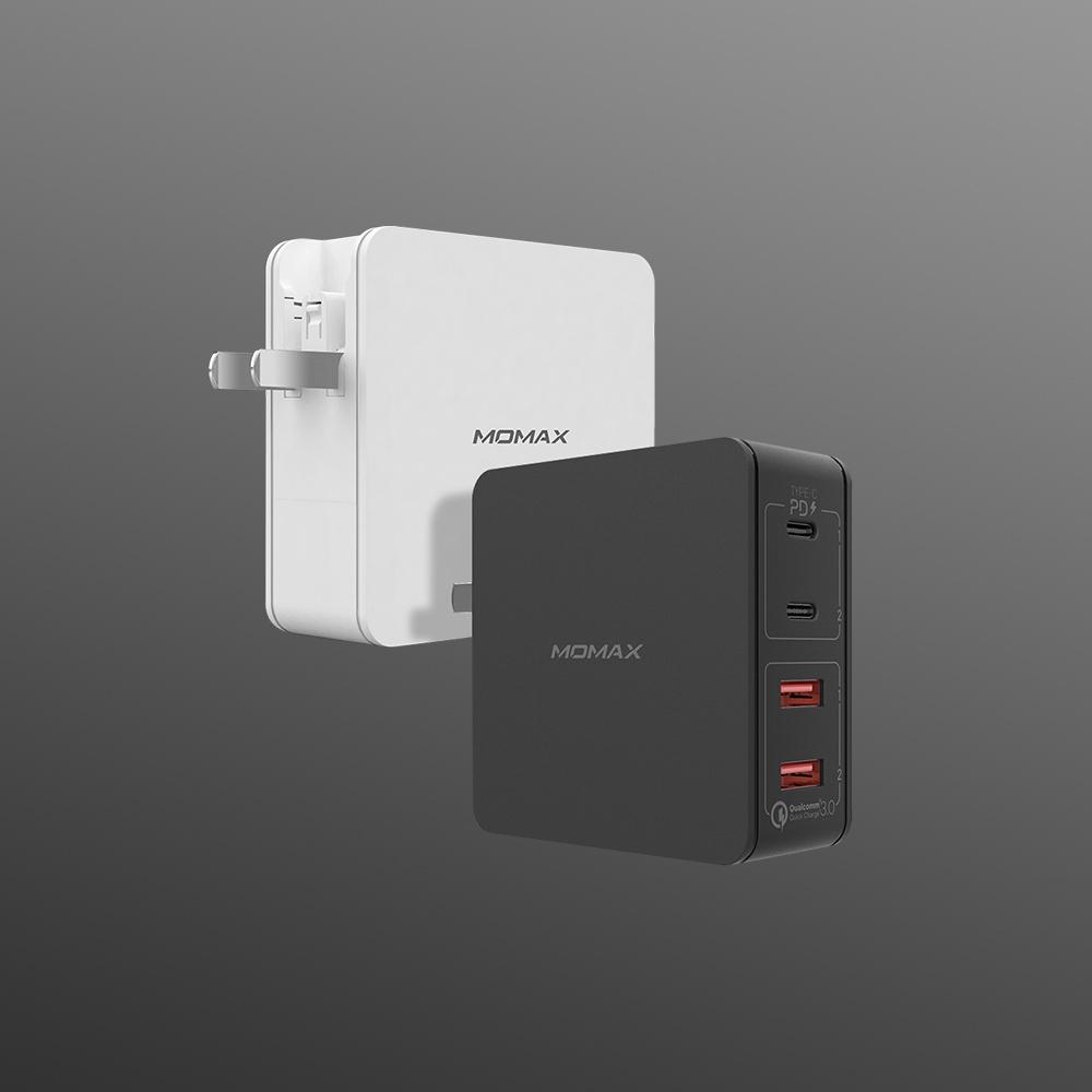MOMAX | Oneplug 66W 雙PD 4插口快速充電器 (Type-C PDx2+QC 3.0 USBx2)