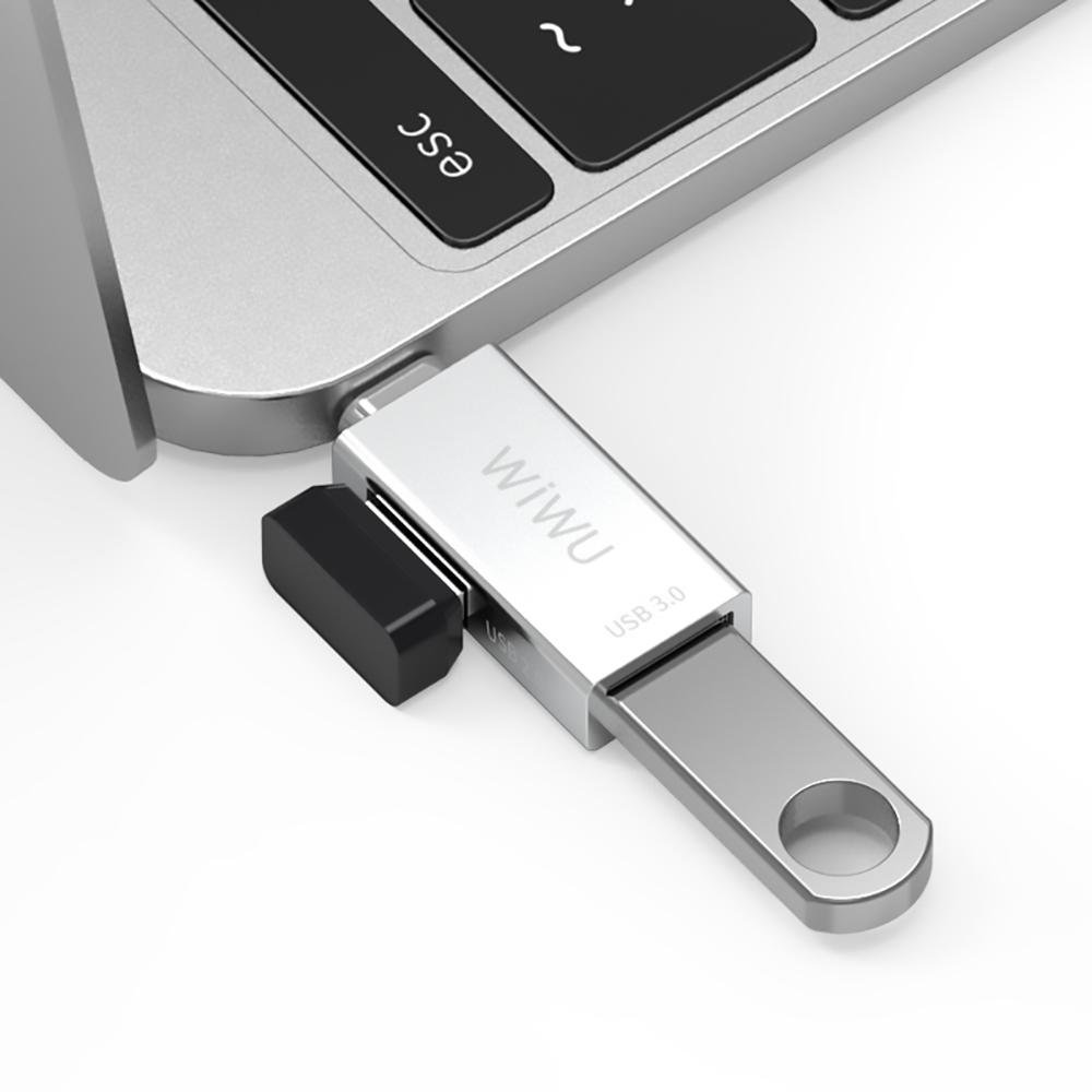 WiWU 吉瑪仕 T系列 Type-C To USBx2 HUB擴充轉接器T02