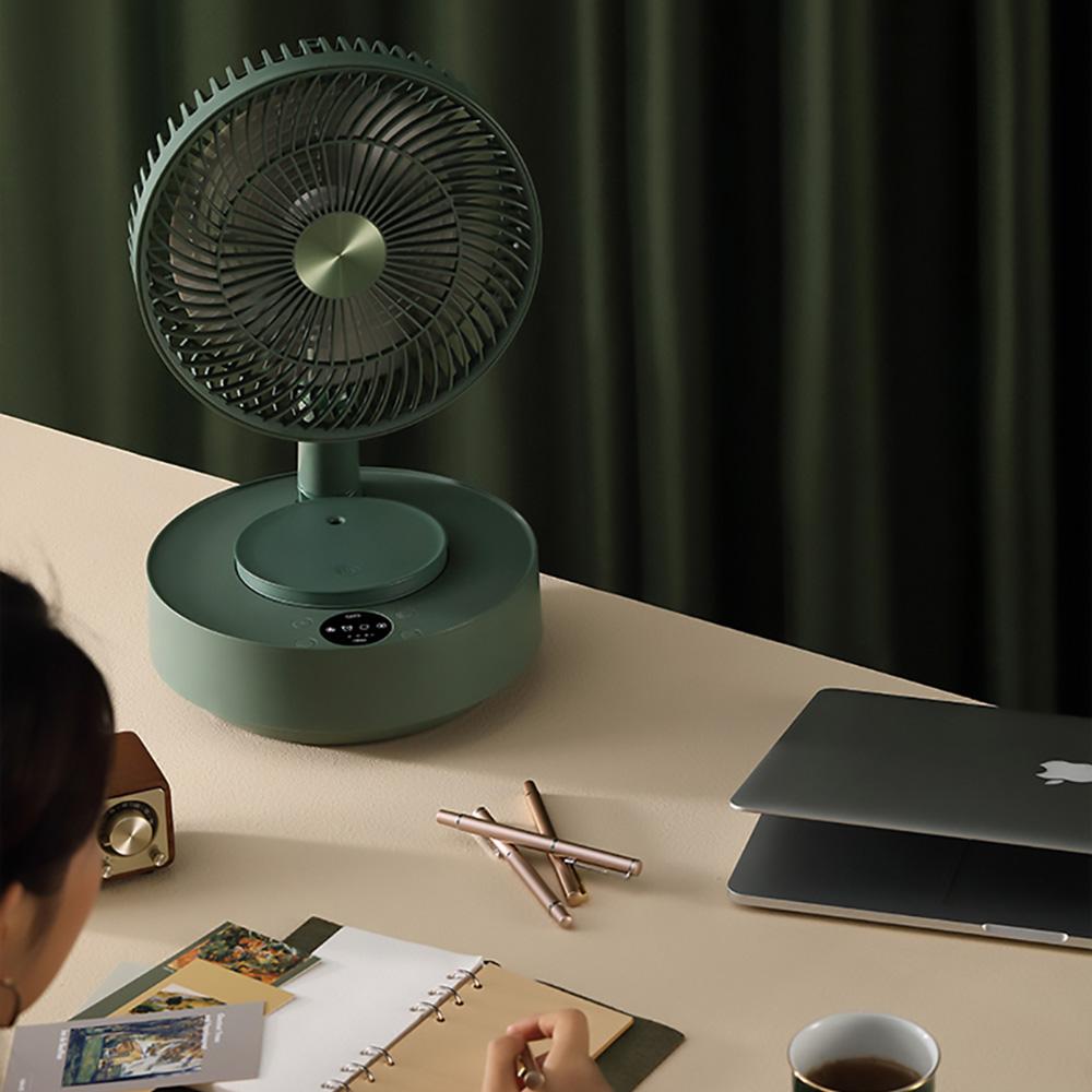Edon愛登   加濕式便攜無線伸縮收納式電扇-E908B-風扇(加濕器選配)