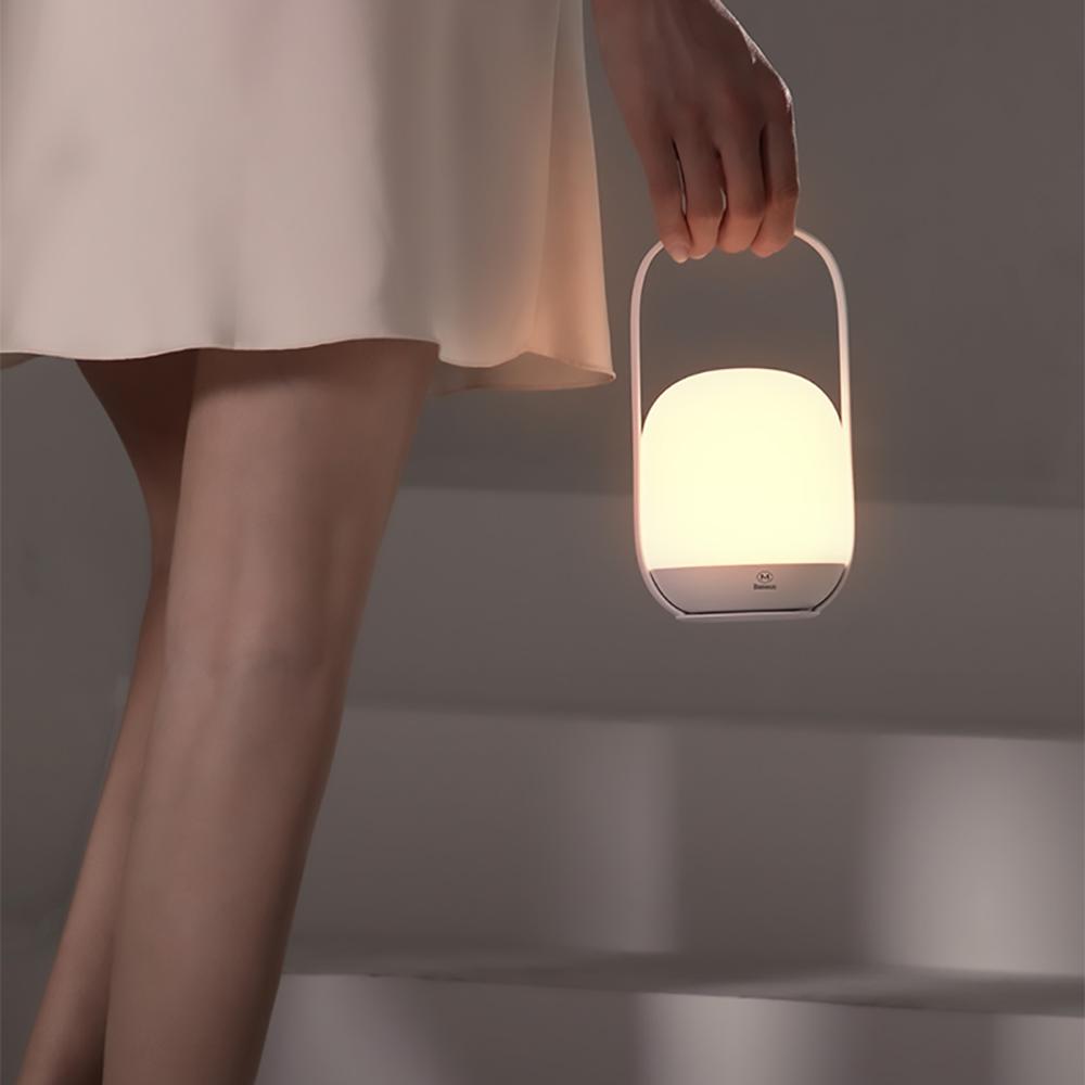Baseus 倍思 | 月白系列母嬰提手可分離無極調光手提燈 DGYBA02-無線充手提燈