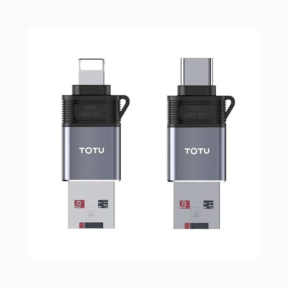 TOTU 拓途|極速系列-二合一讀卡機 USB轉Lightning/Type-C