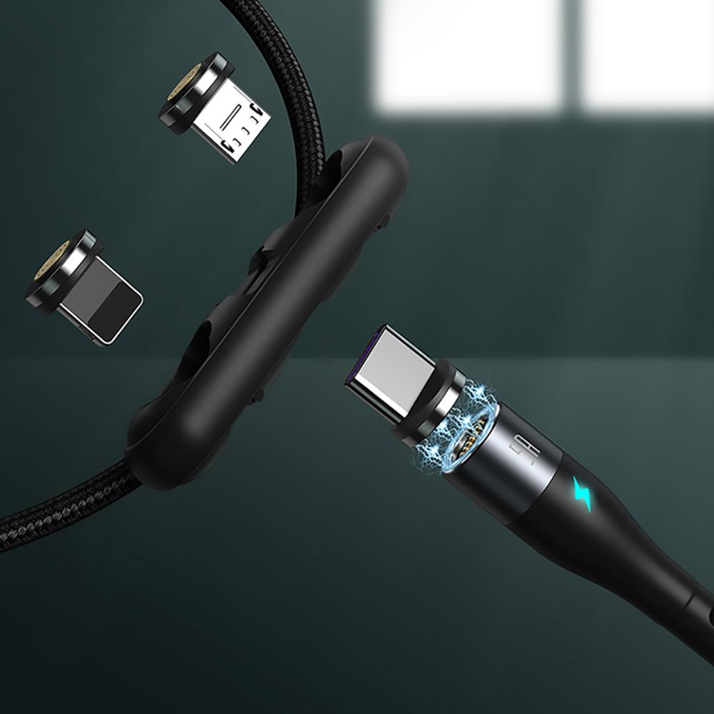 Baseus 倍思|三合一鋅磁系列安全快充數據線(USB to M+L+T)3A