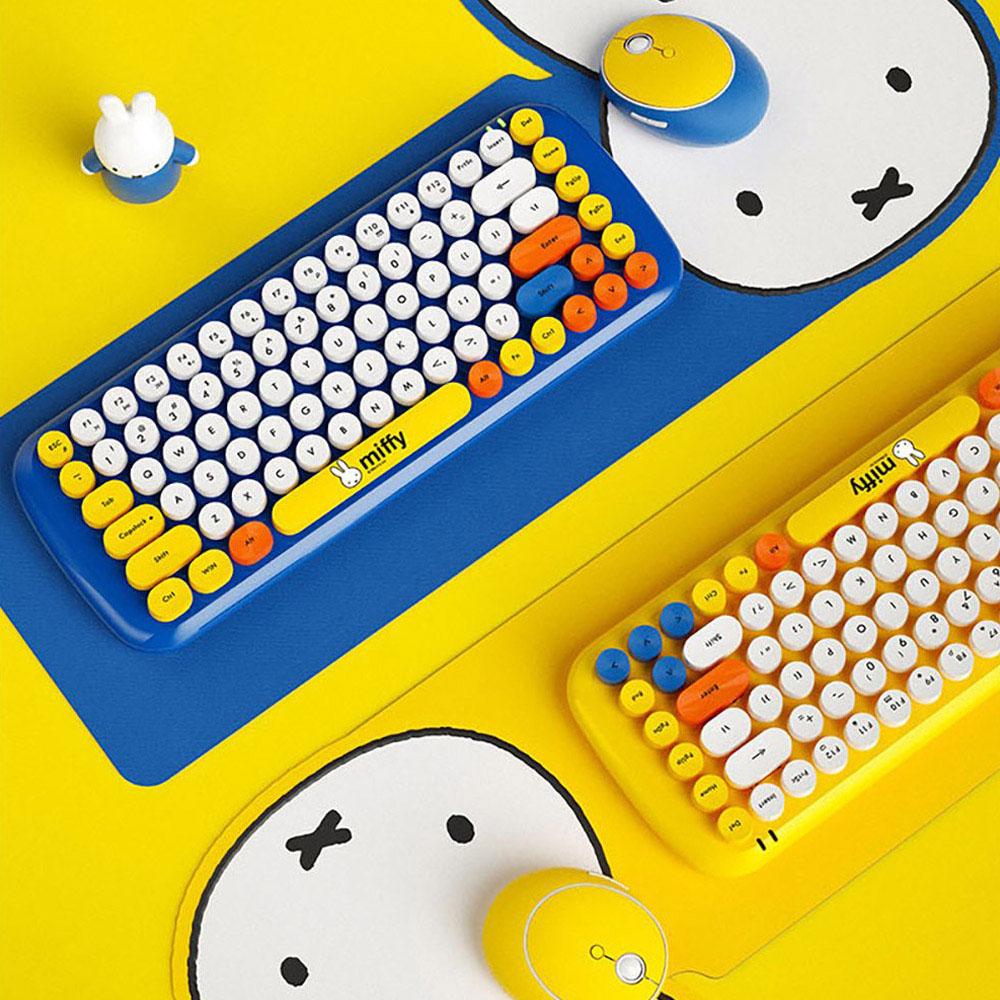 MiPOW 麥泡 miffy聯名無線鍵盤滑鼠套裝