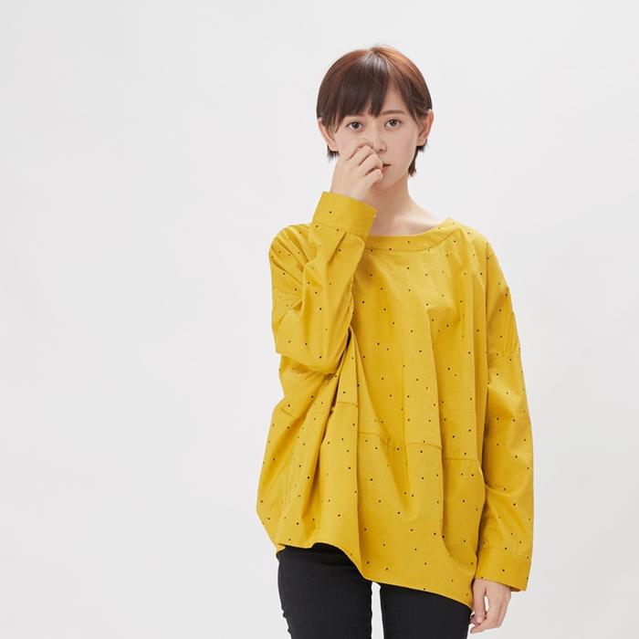(複製)好我 so that′s me|Namiya 球型長袖棉質上衣/黑點白