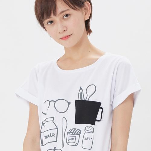 好我 so that′s me 文青早餐方袖女T