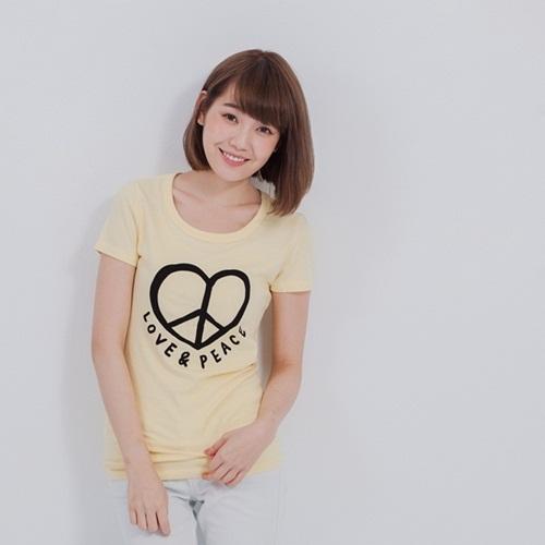好我 so that′s me|Love&Peace短袖蜜桃棉女T