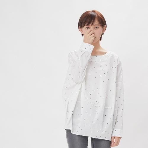 好我 so that′s me|Namiya 球型長袖棉質上衣/黑點白