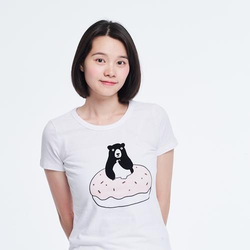 好我 so that′s me|熊愛甜甜圈短袖蜜桃棉女T