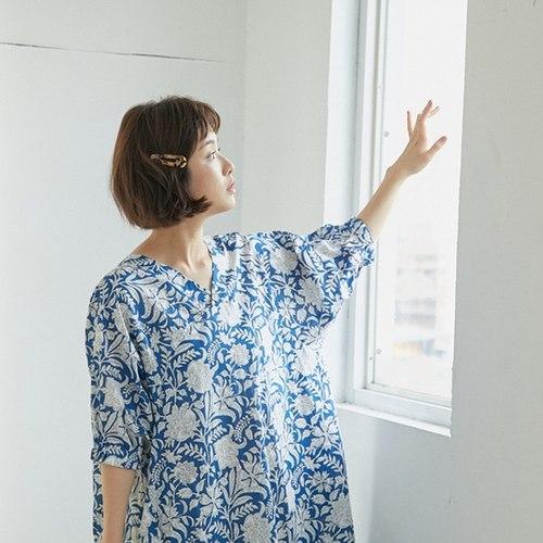 好我 so that′s me|Fifi花卉印花度假長洋裝藍