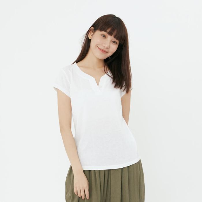 (複製)好我 so that′s me 黑狗兄純白短袖傘襬女TEE
