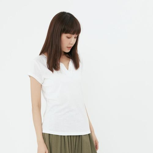 好我 so that′s me 星彩棉小開襟雙扣T恤上衣白
