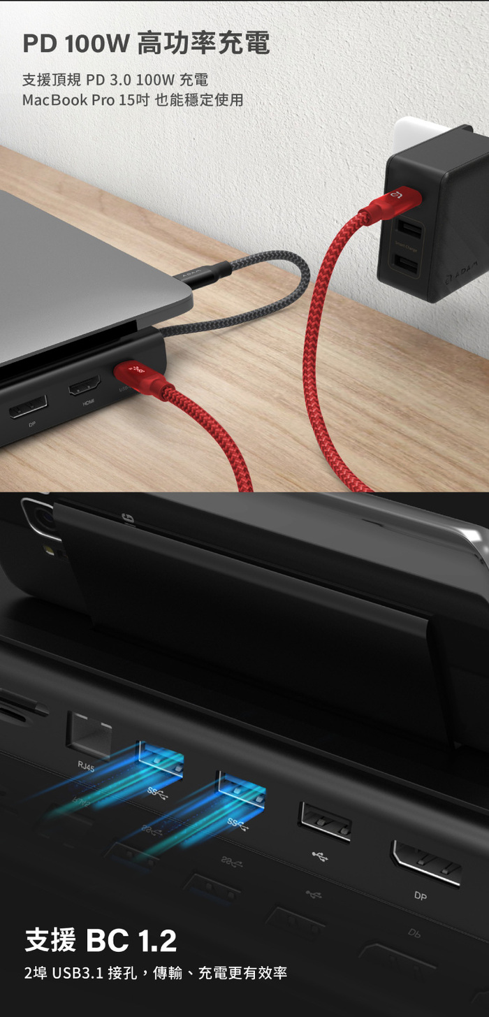 ADAM|Hub Pro USB-C 11 合 1 多功能轉接器