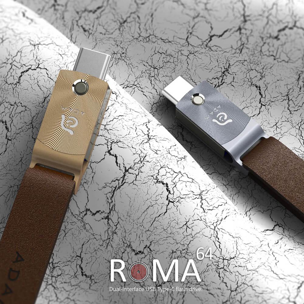 ADAM|ROMA 64GB USB-C 高速讀寫旋轉隨身碟