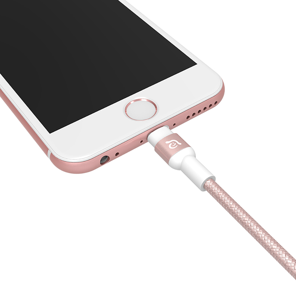 ADAM|PeAk Lightning - USB 金屬編織傳輸線 300cm 玫瑰金