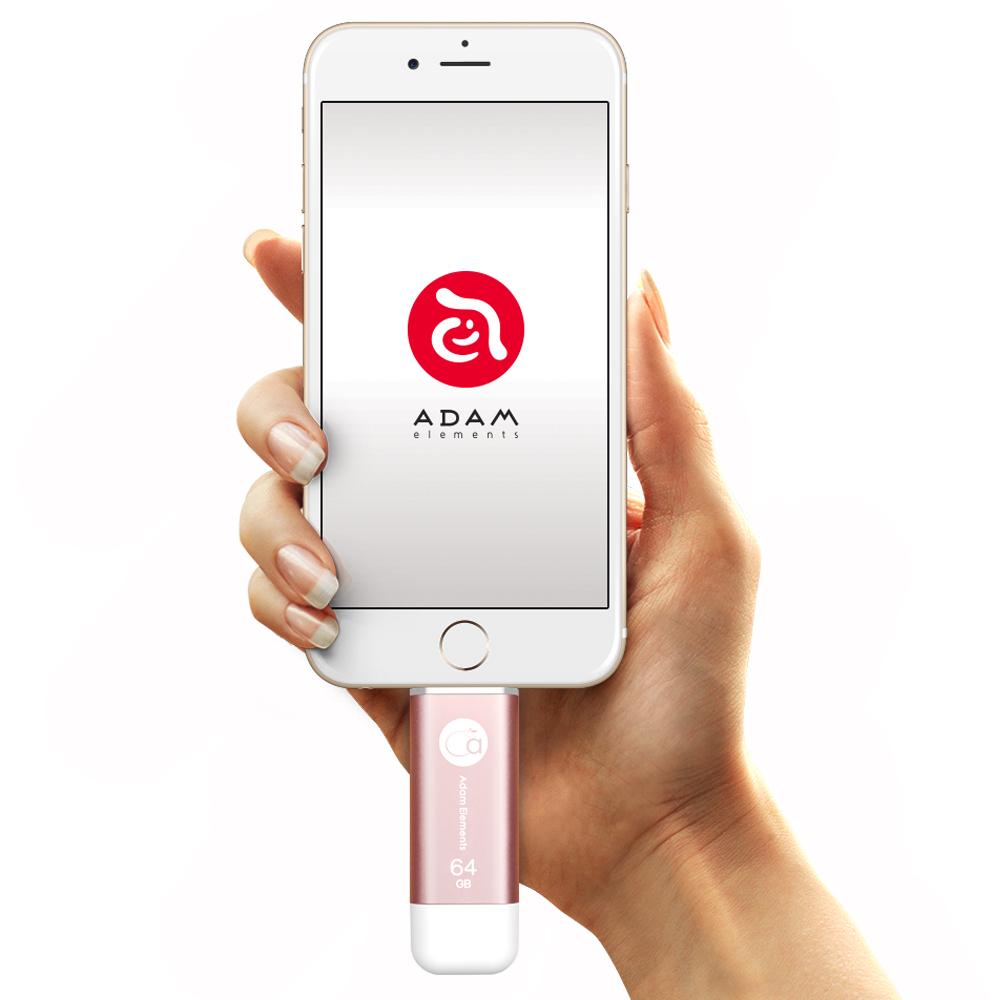 ADAM iKlips iOS極速雙向隨身碟 64GB 玫瑰金