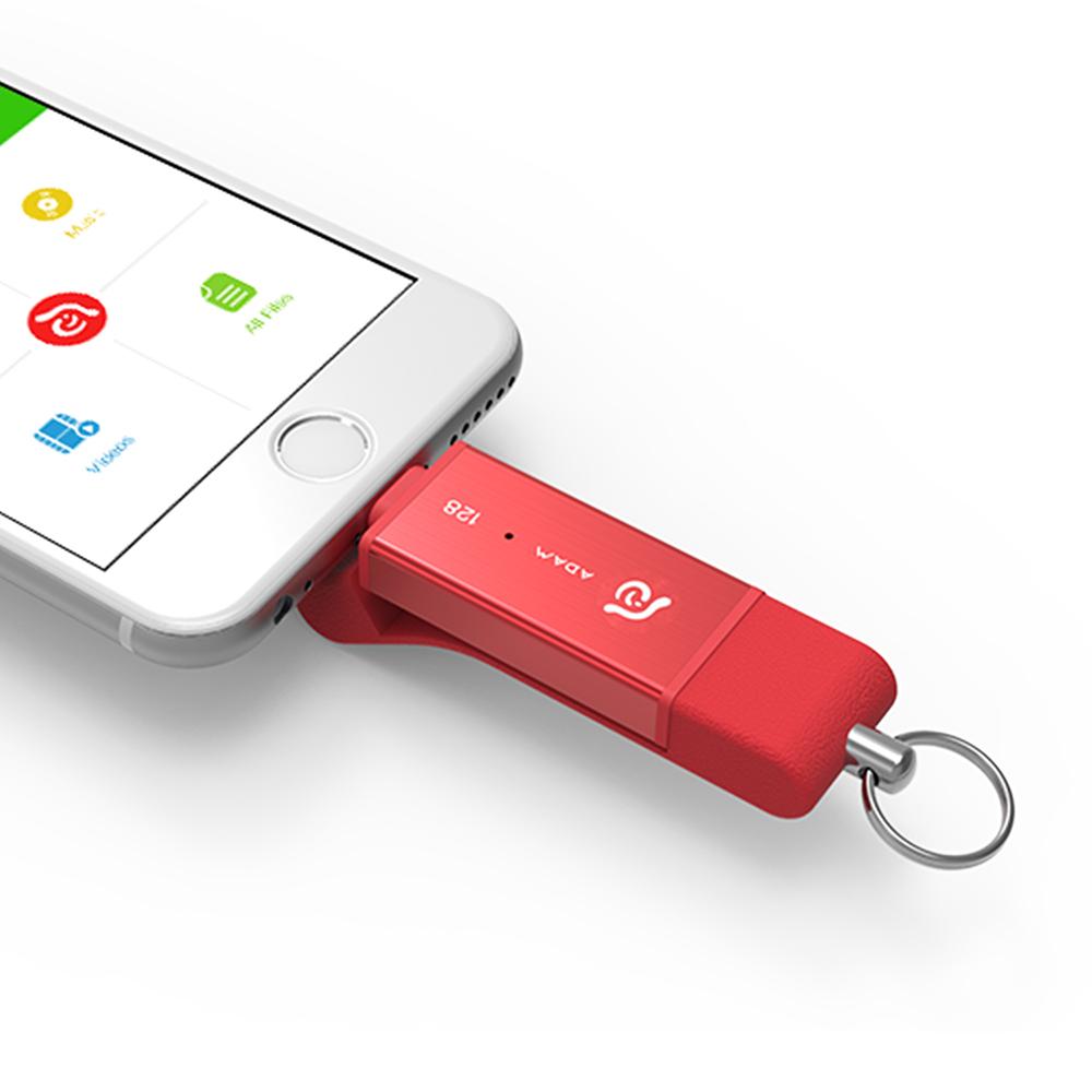 ADAM iKlips DUO 蘋果iOS USB3.1極速雙向隨身碟 128GB