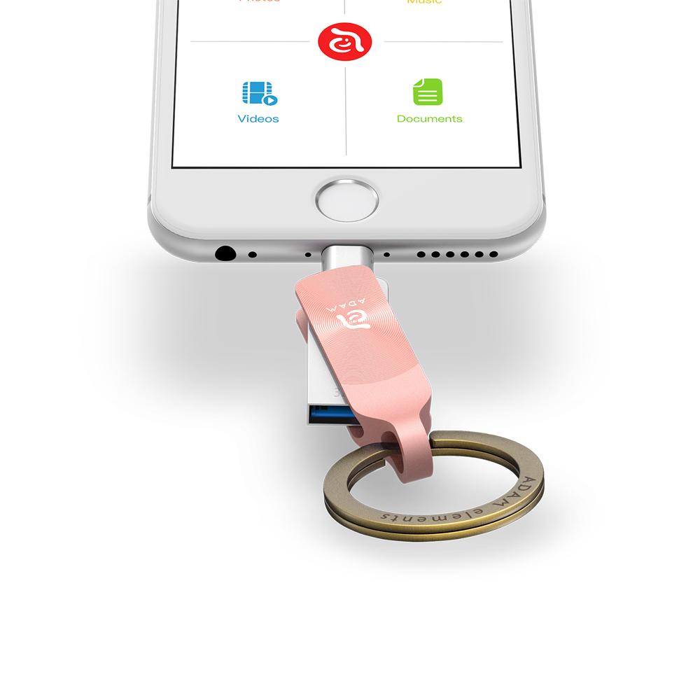 ADAM|iKlips DUO+ USB3.1 iOS極速雙向隨身碟 32GB 玫瑰金