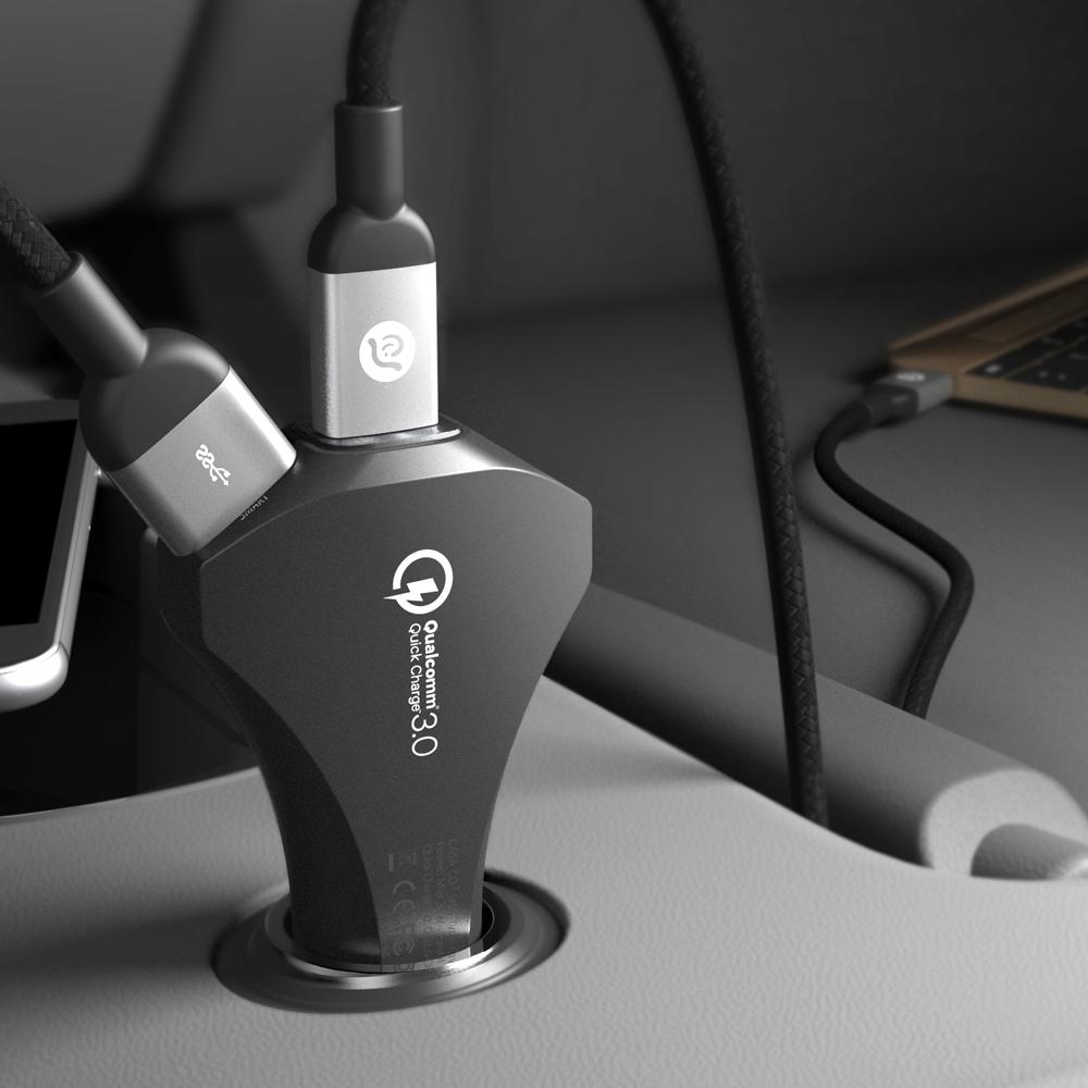 ADAM|CASA CO3 USB-C QC3.0車用快速充電器
