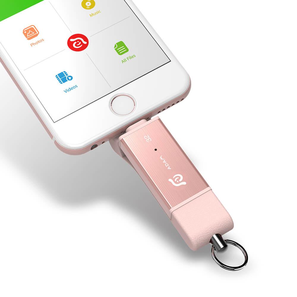 ADAM|iKlips DUO 蘋果iOS USB3.1極速雙向隨身碟 32GB