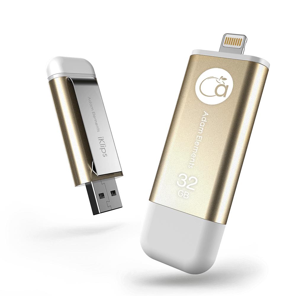ADAM|iKlips 蘋果iOS USB3.1極速雙向隨身碟 32GB