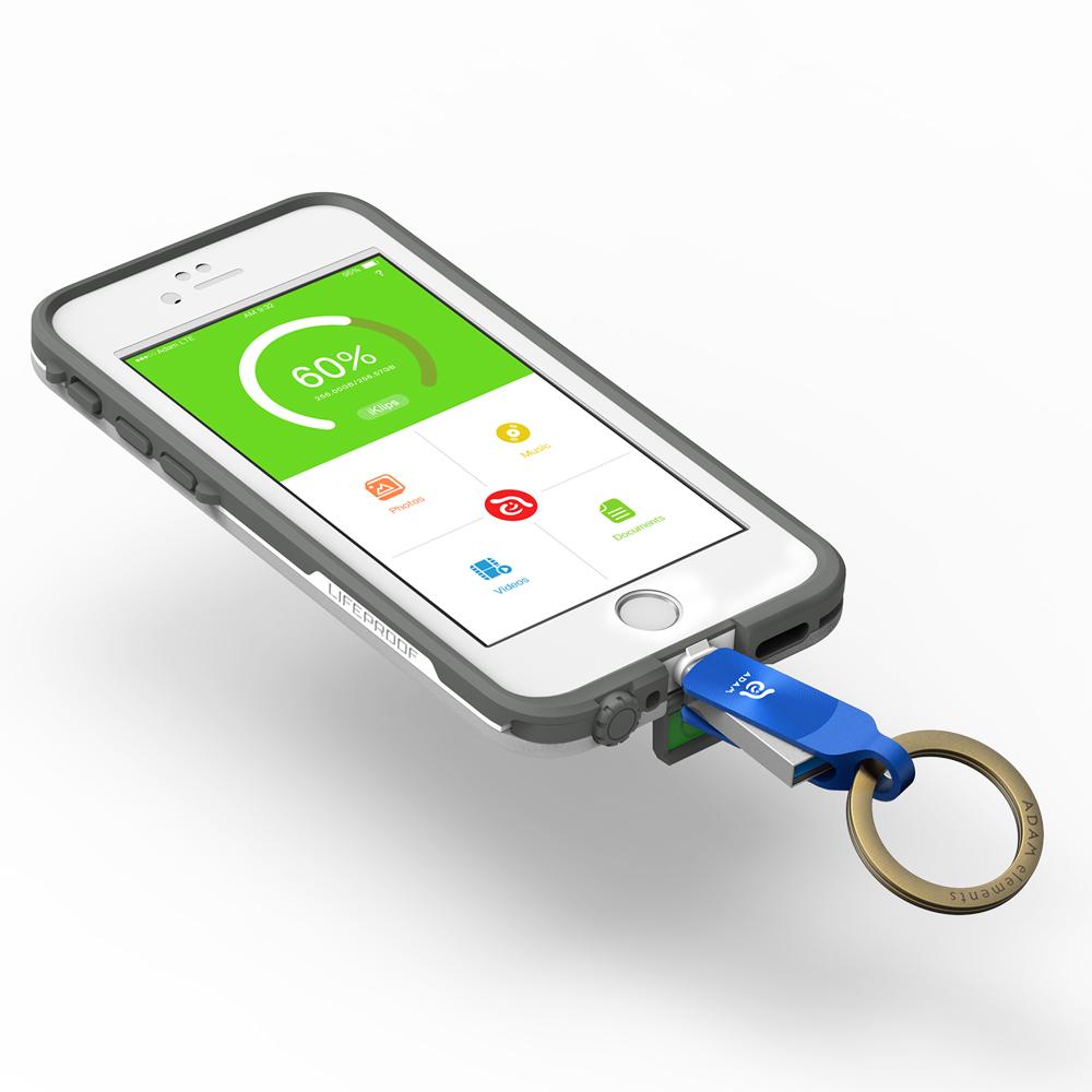 ADAM iKlips DUO+ USB3.1 iOS極速雙向旋轉隨身碟 32GB 藍