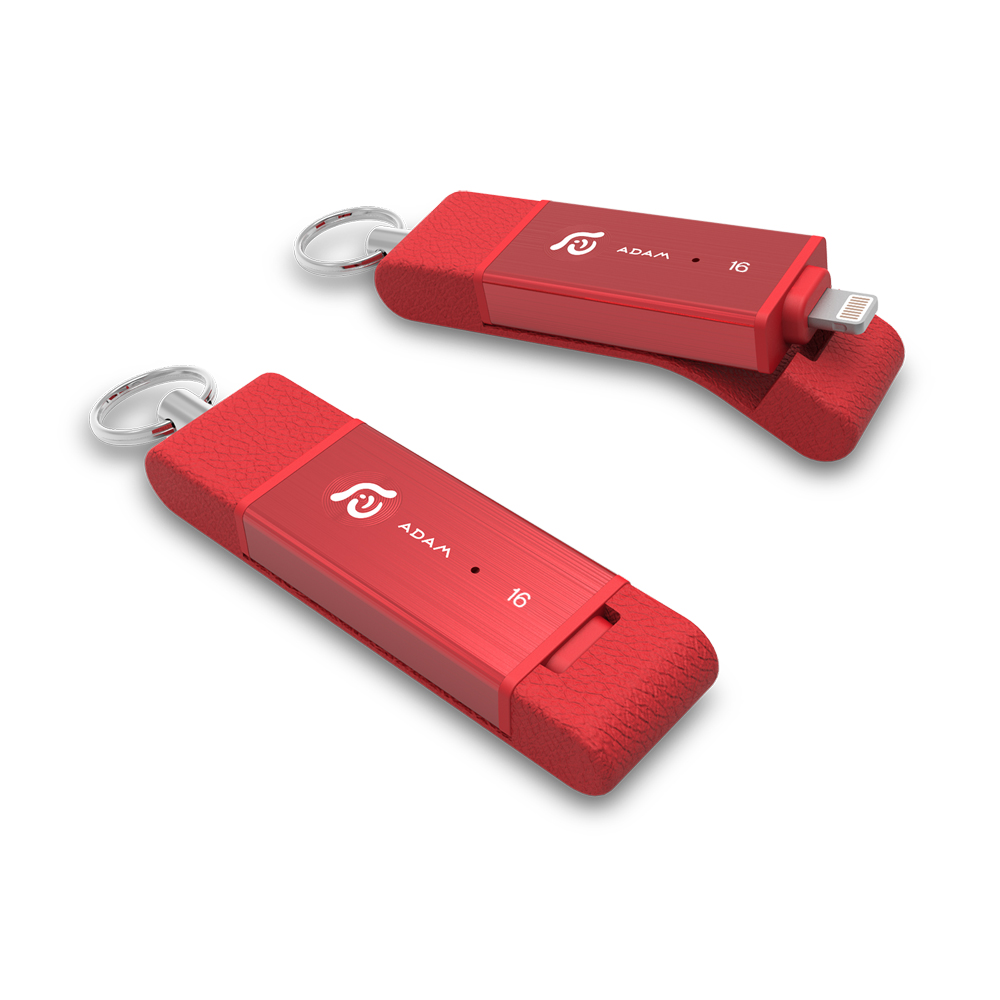 ADAM|iKlips DUO 蘋果iOS USB3.1 極速雙向隨身碟 16GB 紅