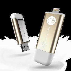 ADAM|iKlips 蘋果iOS USB3.1 極速雙向隨身碟 64GB 金