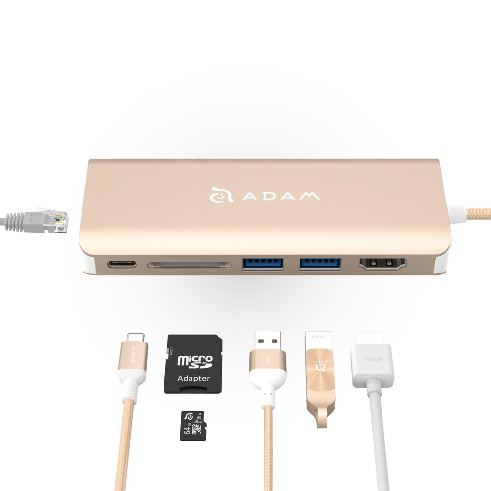 ADAM Hub A01 USB 3.1 USB-C 6 port 多功能集線器 (簡易版無收納袋)