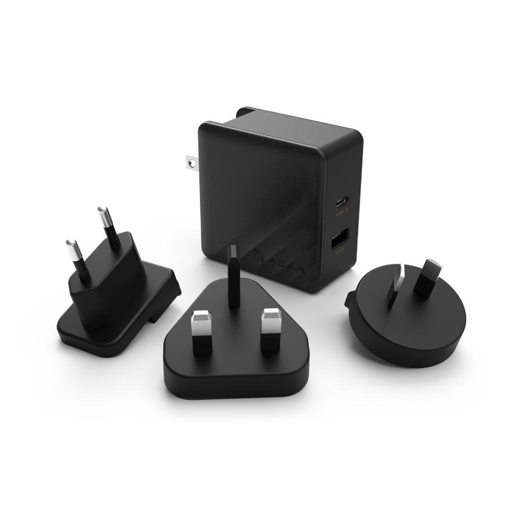 ADAM|蘋果快充組 USB-C PD 45W 充電器 + USB-C - Lightning 充電線 1.2M