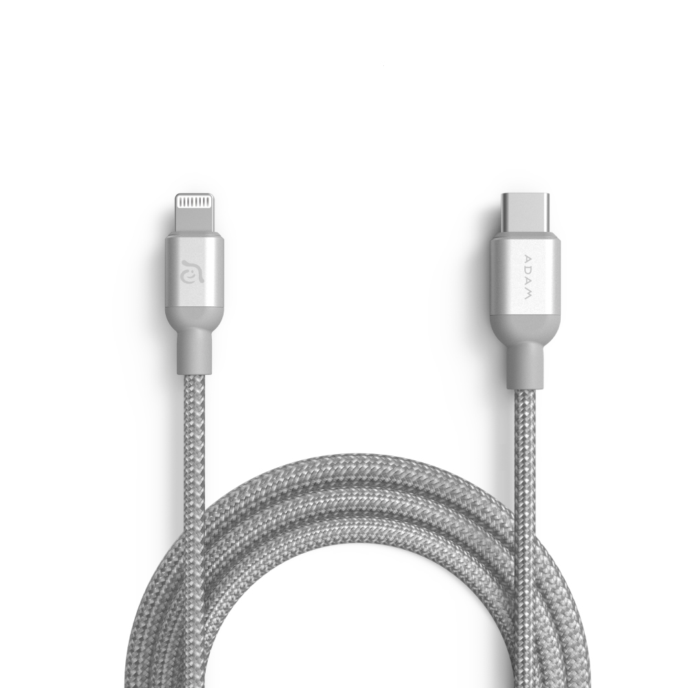 ADAM 蘋果快充組 OMNIA P5 57W 雙孔充電器 + USB-C - Lightning 充電線 1.2M C120B