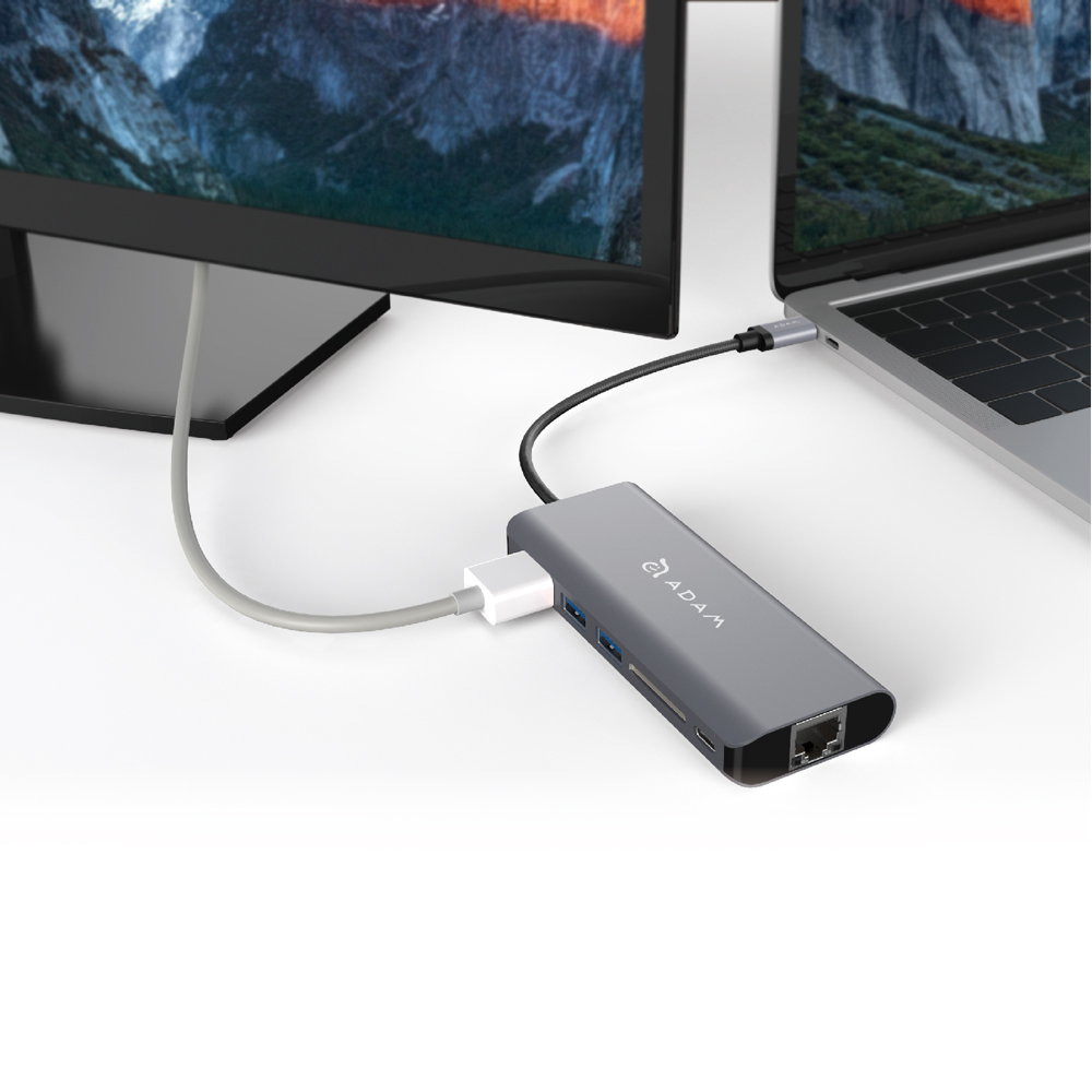 ADAM|Hub A01 USB 3.1 USB-C 6 port 多功能集線器 (精裝附收納袋)
