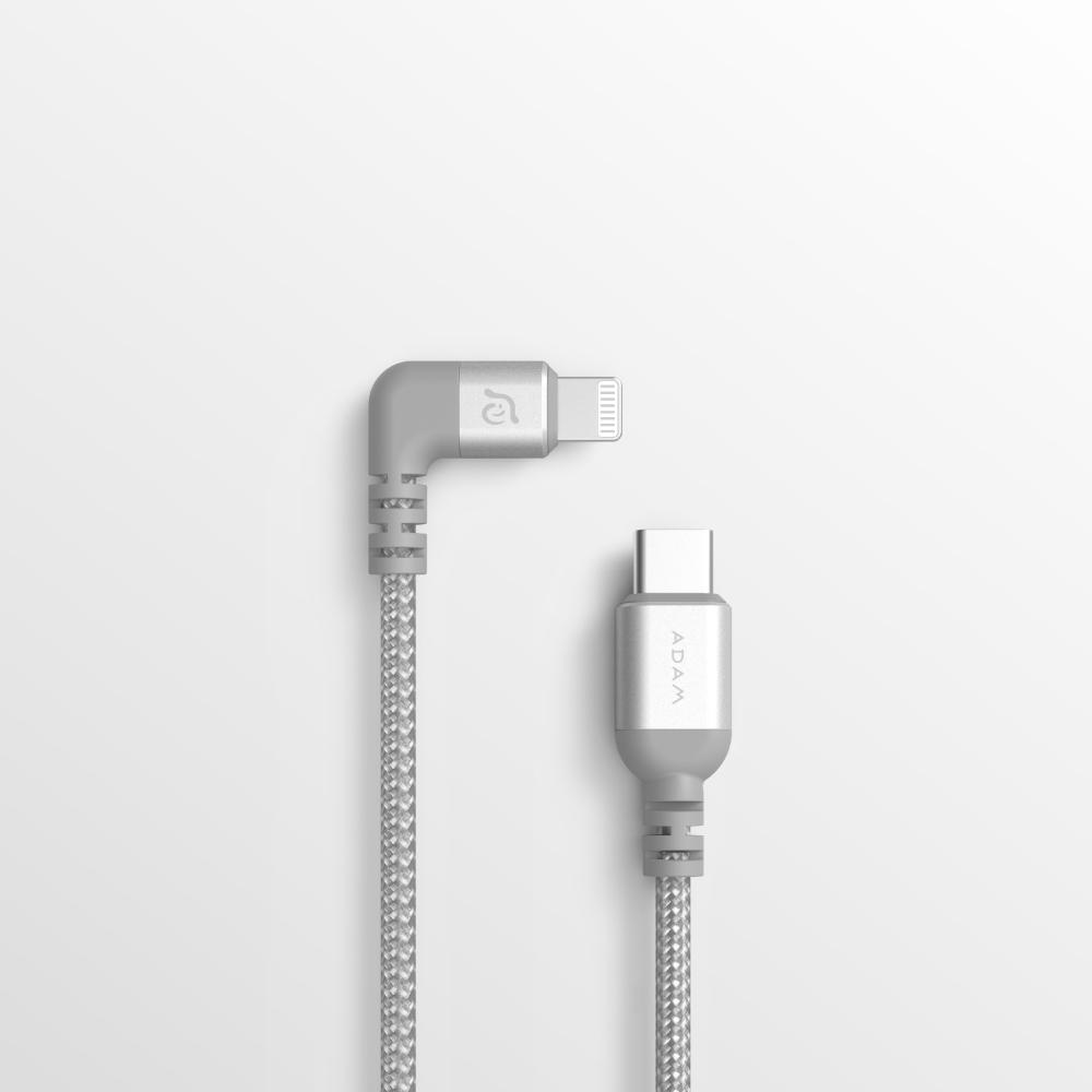 ADAM|PeAk II USB-C to Lightning 90°彎頭充電傳輸線 0.3M LC30B