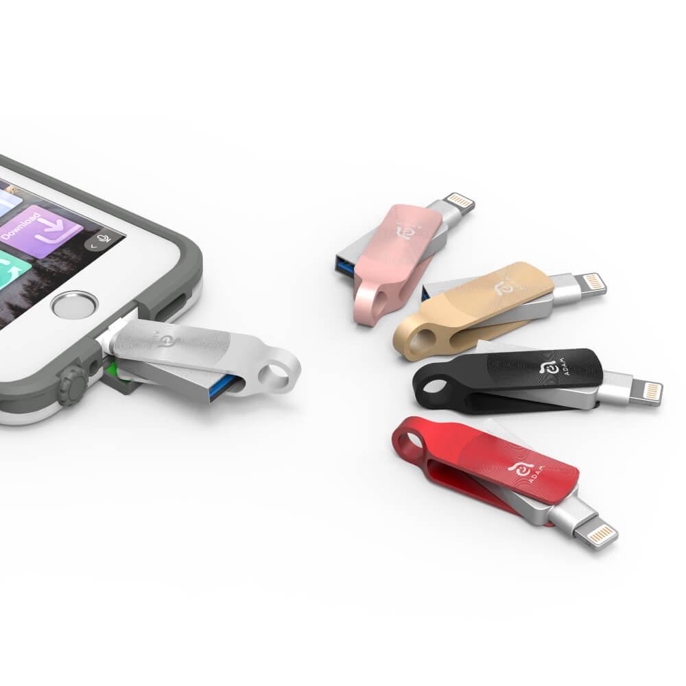 【任選2入】ADAM|iKlips DUO+ 32GB 蘋果iOS USB3.1 旋轉雙向隨身碟