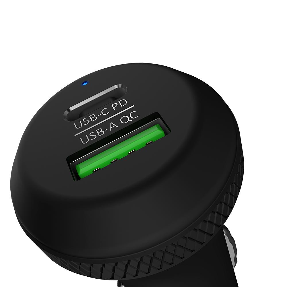ADAM|OMNIA C1 USB-C PD / QC 3.0 36W 雙口極速車充