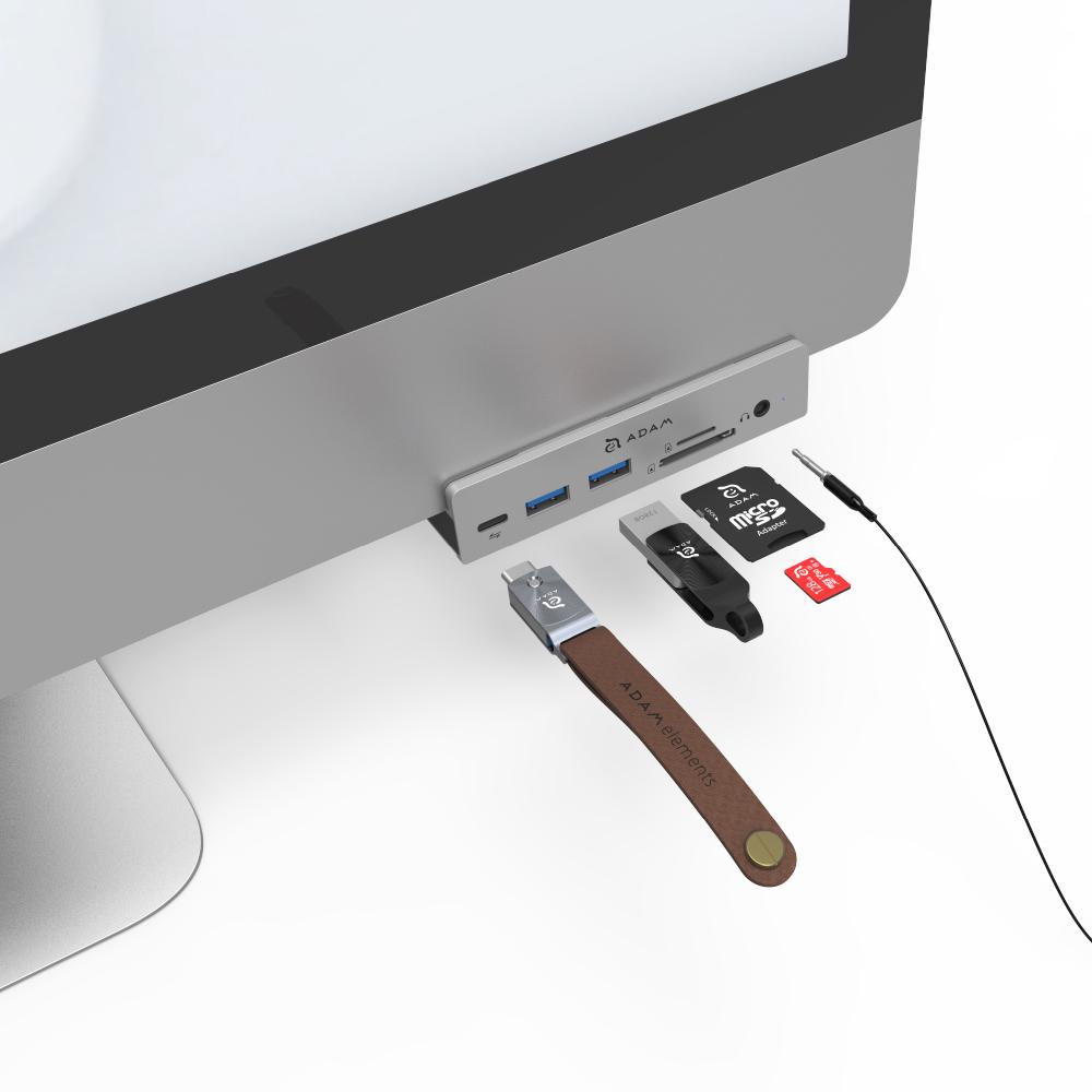 ADAM|Hub i8 USB-C 8 合 1 全台唯一 iMac 專用多功能轉接器 完全支援2021新款iMac