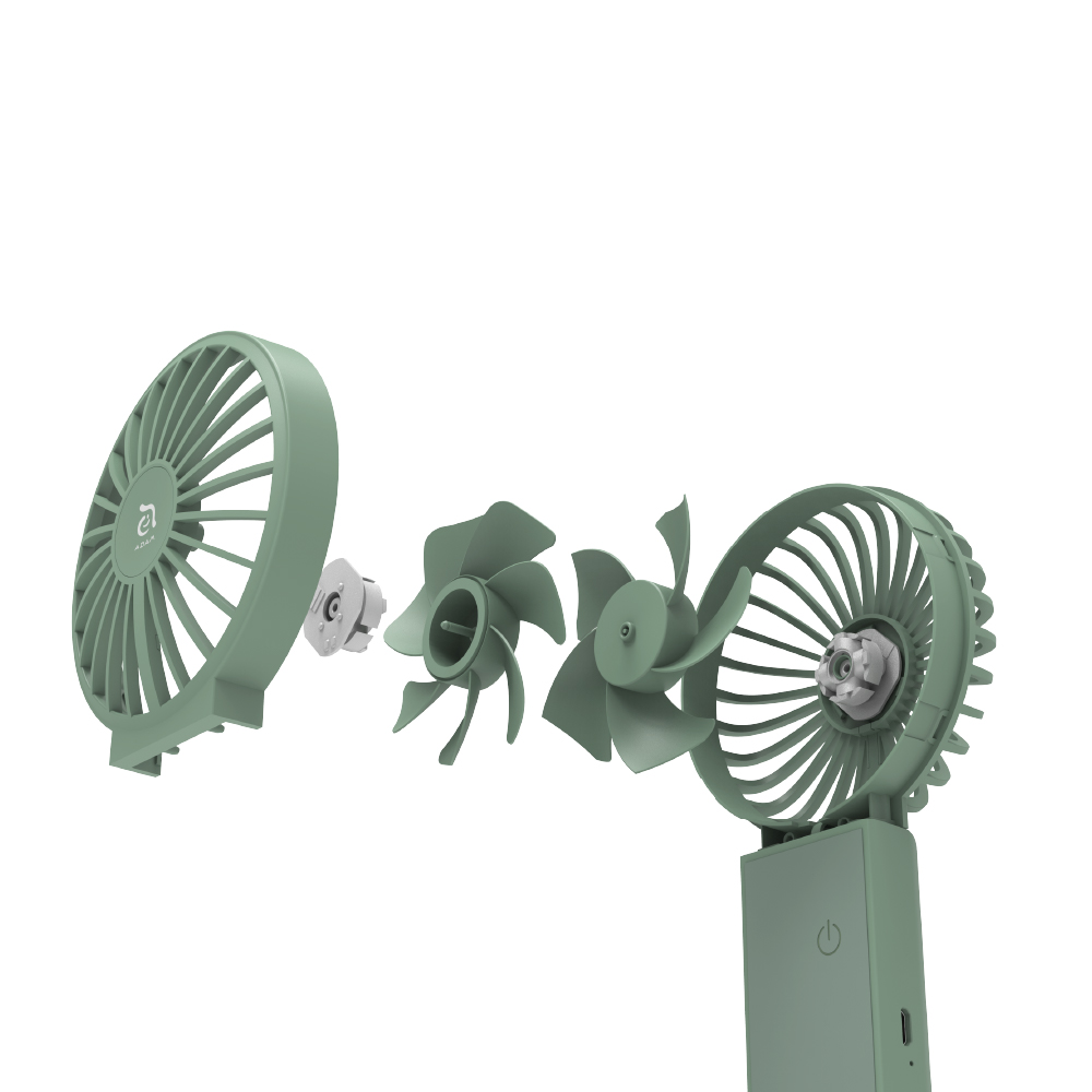 ADAM|FAN 雙扇葉三用手持摺疊風扇