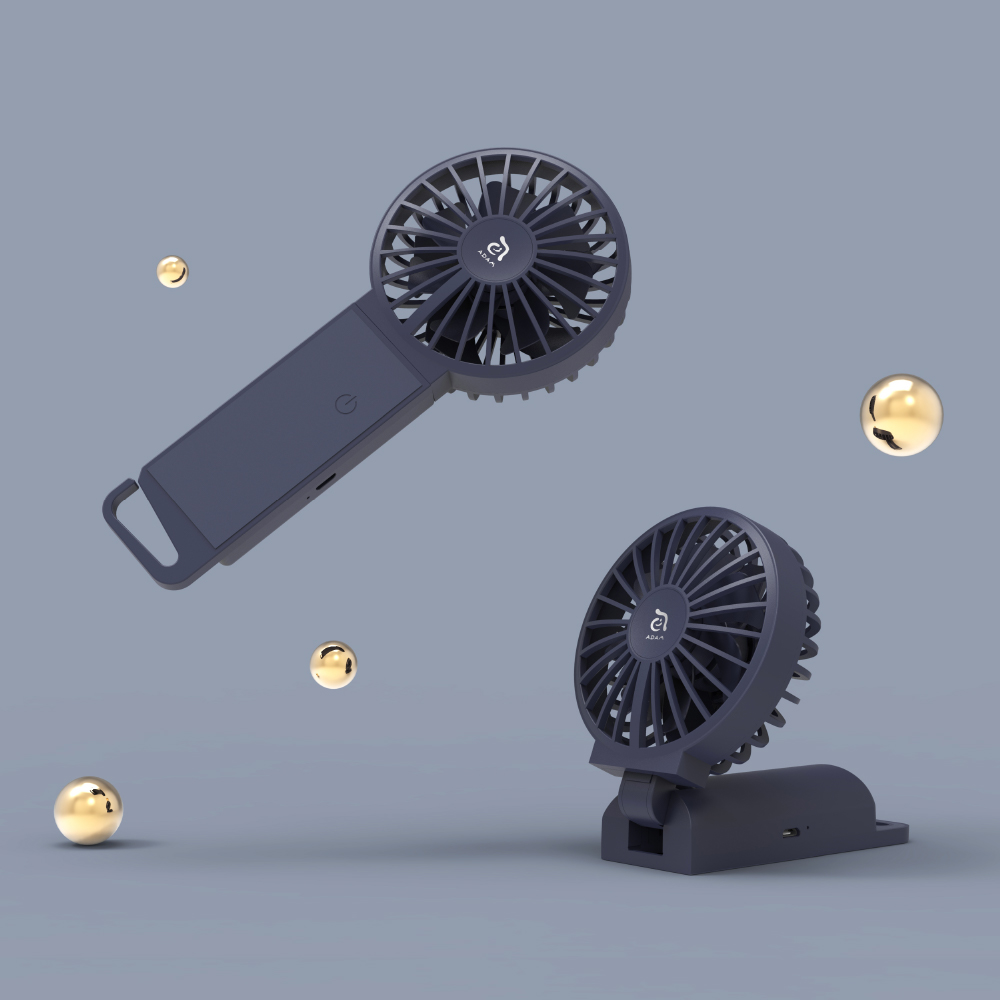 ADAM FAN 雙扇葉三用手持摺疊風扇
