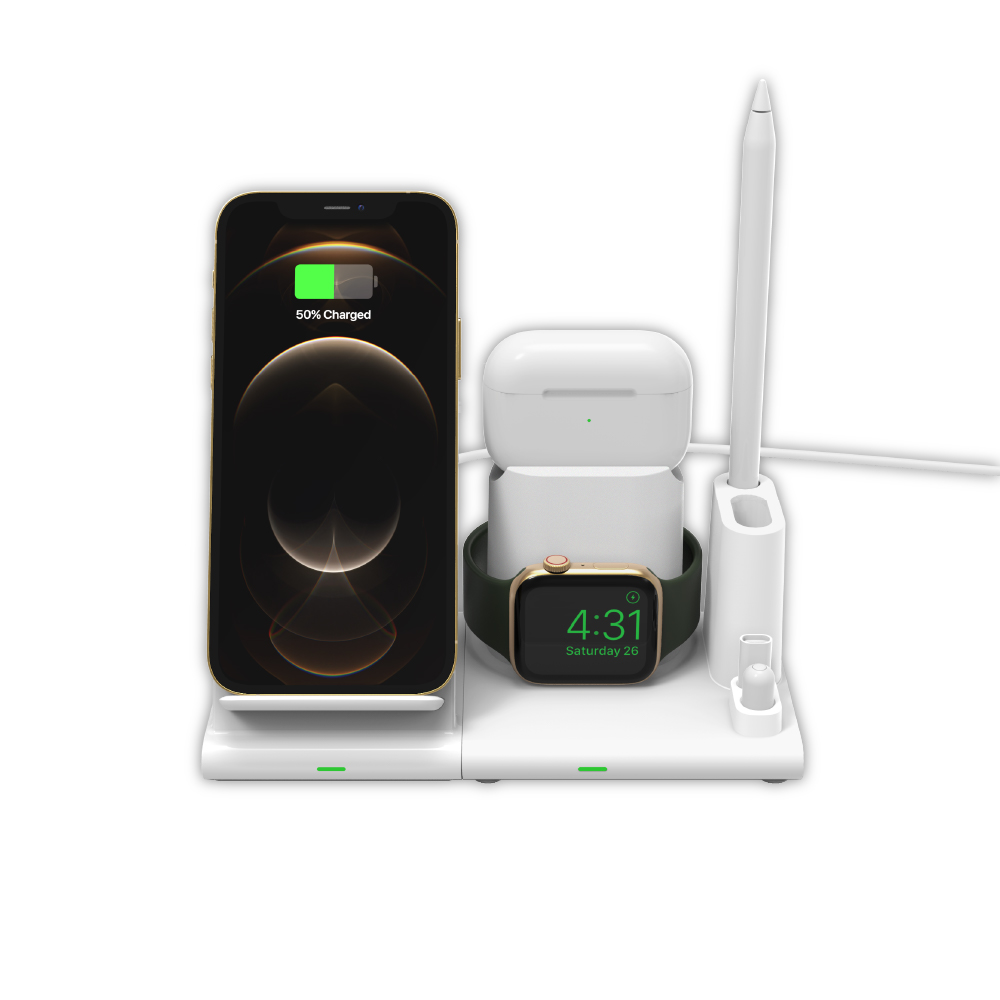 ADAM OMNIA Q4 四合一 無線充電座(含18W充電器)