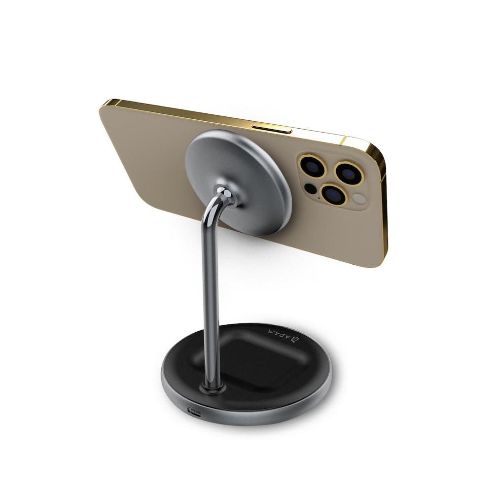 ADAM|OMNIA M2 MagSafe 二合一無線充電座(含USB-C 24W充電器)