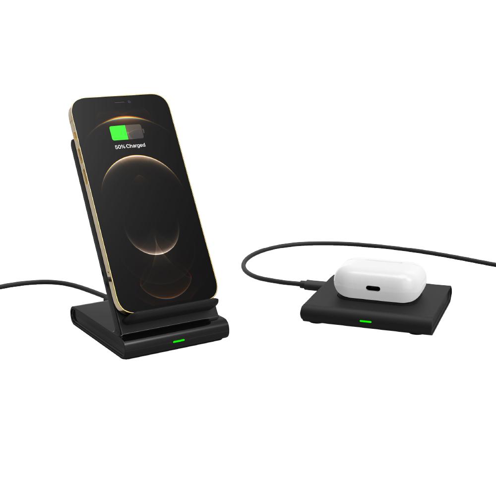 ADAM|OMNIA Q2x 二合一 無線充電座 含 PD/QC 充電器