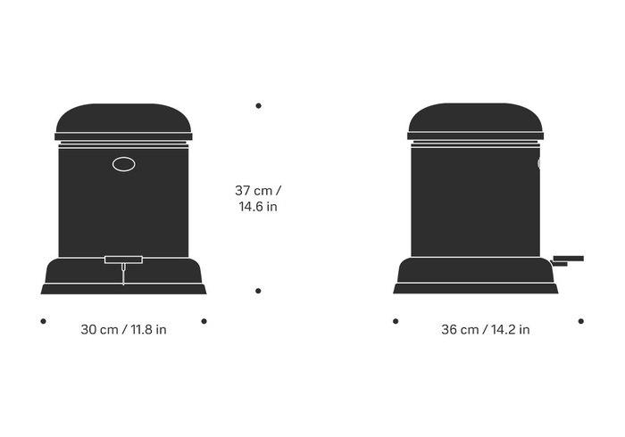 (複製)北歐櫥窗 VIPP |垃圾桶 (白、4L)