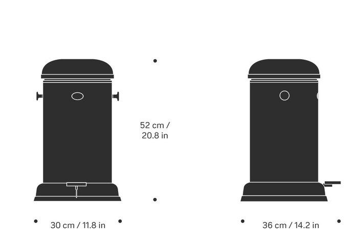 (複製)北歐櫥窗 VIPP  垃圾桶 (白、4L)